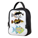 3 Triggerfish a Neoprene Lunch Bag