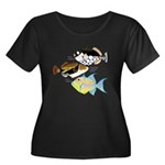 3 Triggerfish a Plus Size T-Shirt