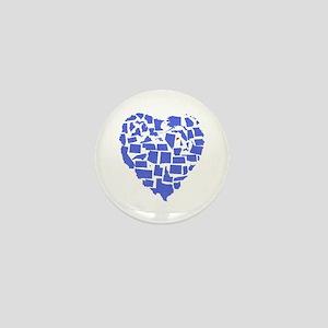 Connecticut Heart Mini Button