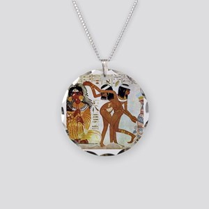 egyptian music Necklace Circle Charm