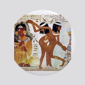 egyptian music Round Ornament