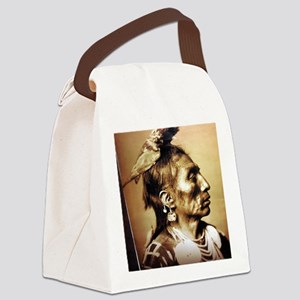 side indian Canvas Lunch Bag