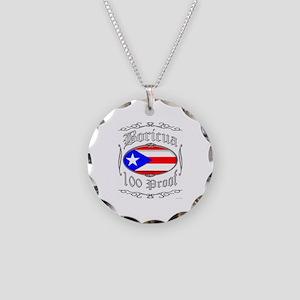 Boricua 100 Proof2 Necklace Circle Charm
