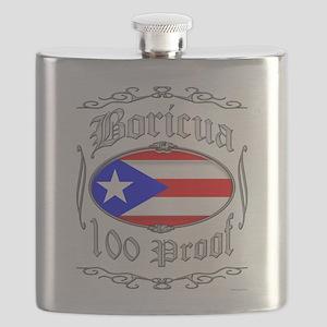 Boricua 100 Proof2 Flask