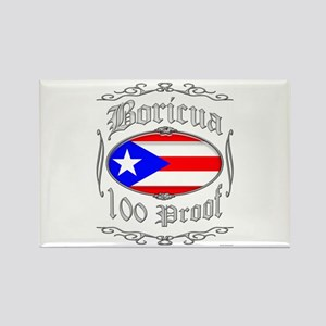 Boricua 100 Proof2 Rectangle Magnet