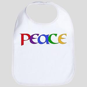 Peace Rainbow Cotton Baby Bib