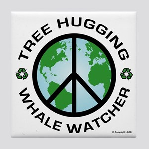 Tree Hugger, Whale Watching Tile Coaster