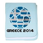 Greece World Cup 2014 baby blanket