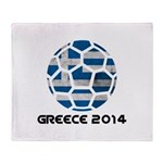 Greece World Cup 2014 Throw Blanket