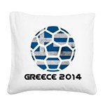 Greece World Cup 2014 Square Canvas Pillow