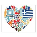 Greece World Cup 2014 Heart Small Poster