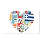 Greece World Cup 2014 Heart Mini Poster Print