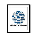 Greece World Cup 2014 Framed Panel Print