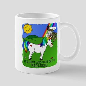 Irony In Paradise Mugs