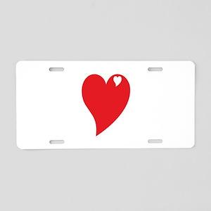 Valentine Heart Aluminum License Plate
