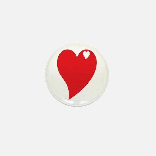Valentine Heart Mini Button