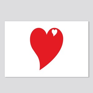 Valentine Heart Postcards (Package of 8)