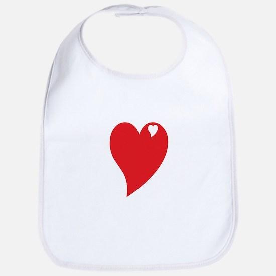 Valentine Heart Bib