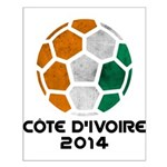 Côte d'Ivoire World Cup 2014 Small Poster