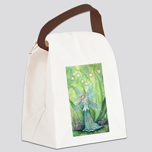 Lily of the Valley Fairy Art Canvas Lunch Bag