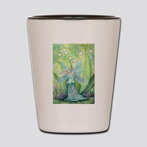 Lily of the Valley Fairy Art Shot Glass