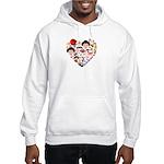 Japan World Cup 2014 Heart Hooded Sweatshirt