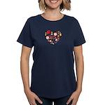 Japan World Cup 2014 Heart Women's Dark T-Shirt