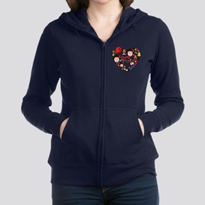 Japan World Cup 2014 Heart Women's Zip Hoodie