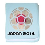 Japan World Cup 2014 baby blanket