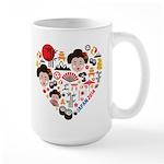 Japan World Cup 2014 Heart Large Mug