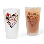 Japan World Cup 2014 Heart Drinking Glass