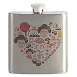 Japan World Cup 2014 Heart Flask
