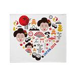 Japan World Cup 2014 Heart Throw Blanket