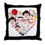 Japan World Cup 2014 Heart Throw Pillow
