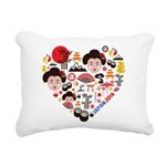 Japan World Cup 2014 Hea Rectangular Canvas Pillow