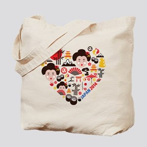 Japan World Cup 2014 Heart Tote Bag