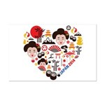 Japan World Cup 2014 Heart Mini Poster Print