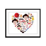 Japan World Cup 2014 Heart Framed Panel Print