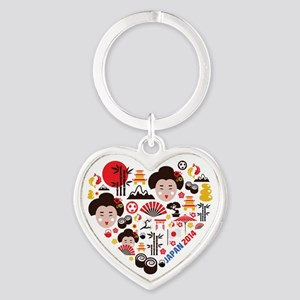 Japan World Cup 2014 Heart Heart Keychain