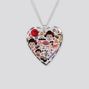 Japan World Cup 2014 Heart Necklace Heart Charm