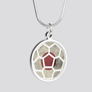 Japan World Cup 2014 Silver Round Necklace