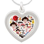 Japan World Cup 2014 Heart Silver Heart Necklace