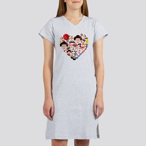 Japan World Cup 2014 Heart Women's Nightshirt