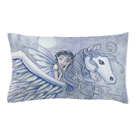 Carry Me Away Fairy and Pegasus Art Pillow Case