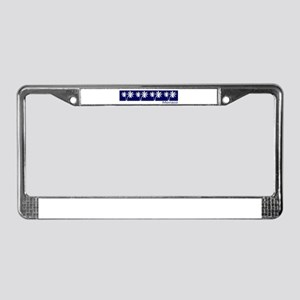 Monaco Navy Palms License Plate Frame