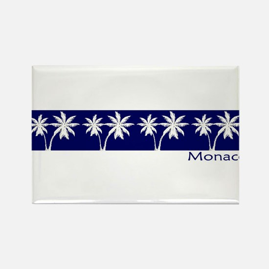 Monaco Navy Palms Rectangle Magnet (100 pack)