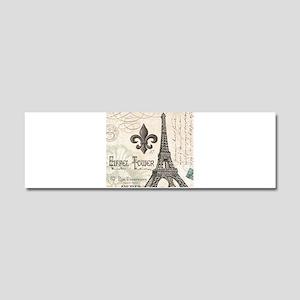 Modern Vintage Eiffel Tower Car Magnet 10 x 3