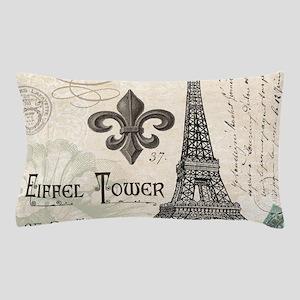 Modern Vintage Eiffel Tower Pillow Case