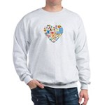 Uruguay World Cup 2014 Heart Sweatshirt