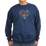 Uruguay World Cup 2014 Heart Sweatshirt (dark)